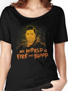 My World is Fire Women's Relaxed Fit T-Shirt