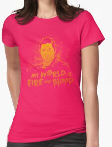 My World is Fire Womens Fitted T-Shirt