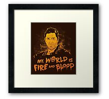 My World is Fire Framed Print