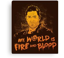 My World is Fire Canvas Print