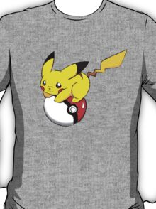 pokemon pikachu pokeball cute anime shirt T-Shirt