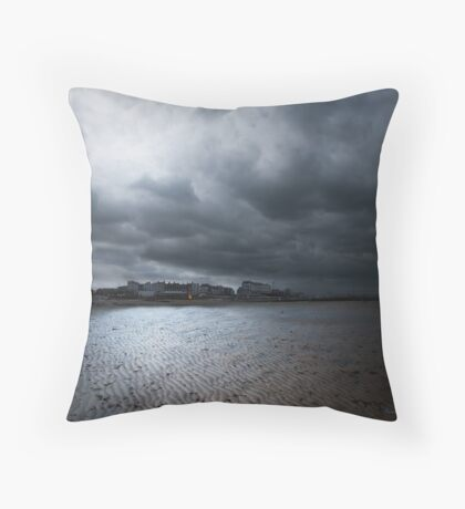 Stormy Skies, Margate Throw Pillow