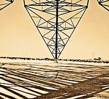 Desert Power Lines in Saudi Arabia by bared