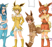 pokemon gijinka cute chibi eevee evolution anime shirt Sticker