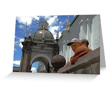 Plaza Observers Greeting Card