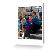 Natives in la Plaza Greeting Card