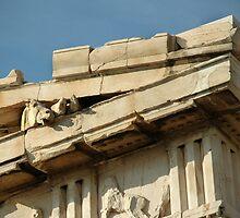 "PARTHENON CORNER.....THE ""ACROPOLIS"".....ATHENS, GREECE by Edward J. Laquale"