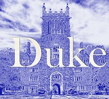 Duke West Campus in Blue by Kadwell