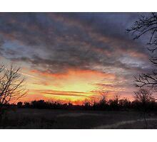 Oklahoma March Sunset Photographic Print