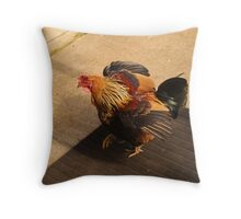 rooster booster Throw Pillow