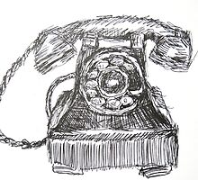 Vintage Telephone by John Fish
