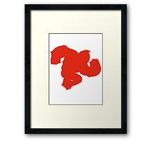 Smash DK Red Framed Print
