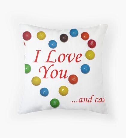 Candy Love Throw Pillow