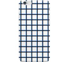 Thick Black and Blue Grid iPhone Case/Skin