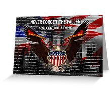 NEVER FORGET THE FALLEN  09/11/01 Greeting Card