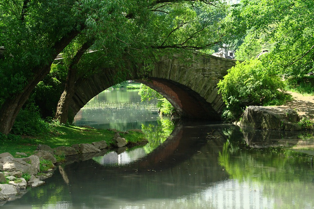 Here, There Be No Trolls-Gapstow Bridge In Summer by Dave Bledsoe