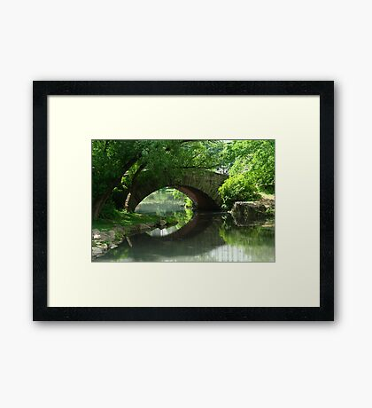 Here, There Be No Trolls-Gapstow Bridge In Summer Framed Print