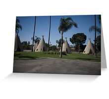 Wig Wam Motel Route 66 Greeting Card