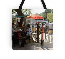 Cops On The Corner Tote Bag