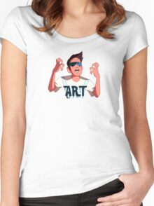 Buck Dewey the Artist Women's Fitted Scoop T-Shirt