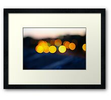 Boston Lights Framed Print