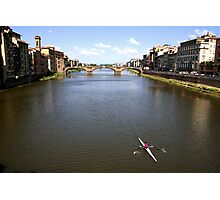 Arno River from the Ponte Vecchio - Florence Photographic Print