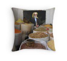 SANA'A SOUK 2 - YEMEN Throw Pillow