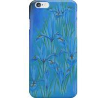 Blue dwarf irises iPhone Case/Skin
