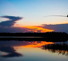 Fishing at Sunset by Parker Cunningham