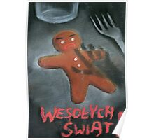 Merry Xmas gingerbread man Poster