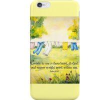 Clothesline Psalm 51 iPhone Case/Skin