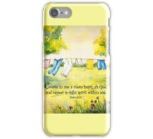Clothesline Psalm 51 iPhone Case/Skin
