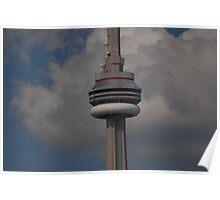 observation deck of C.N. Tower Poster
