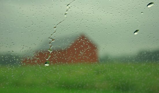 rainy day barn by Tania Palermo