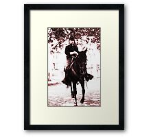 A Lone Soldier Framed Print