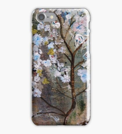Cherry Blossoms Pink and Blue iPhone Case/Skin