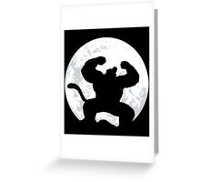 Night Monkey Greeting Card