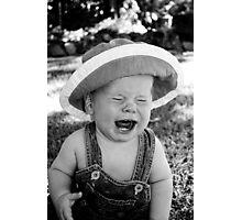 """But it's a GIRLS hat mum!!"" Photographic Print"