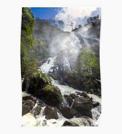 St Columba Falls after heavy winter rains. Poster