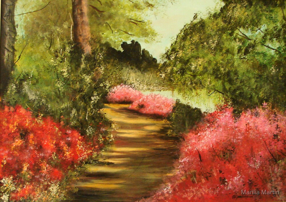 Quot Impressionist Landscape Quot By Marilia Martin Redbubble