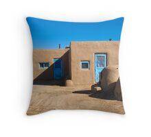 Taos Pueblo - Taos, New Mexico Throw Pillow