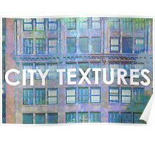 Urban Blues Textures Poster