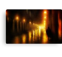 Back to the Past. Alley of Light Canvas Print