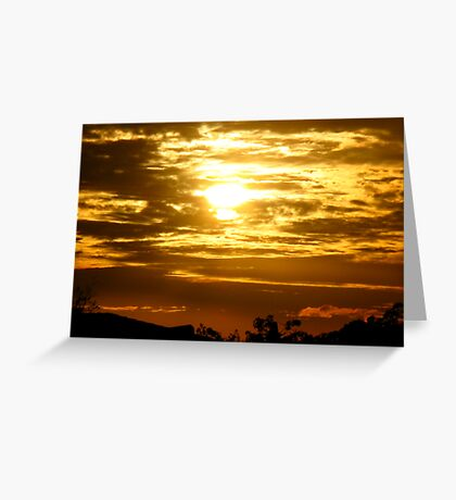 Shining through the clouds Greeting Card