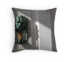 The Lion's Den (please knock first) Throw Pillow