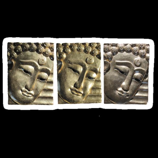three Buddha images by DAdeSimone