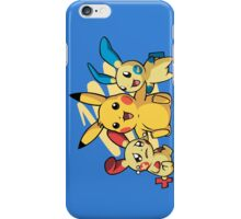 pokemon pikachu pichu cute chibi shirt iPhone Case/Skin