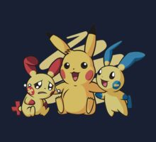 pokemon pikachu pichu cute chibi shirt by JordanReaps