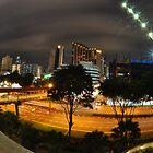 Singapore Night Sky, (FISHEYE) by Ashton Doyle