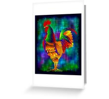 Colourful Rooster 1 Greeting Card